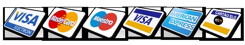 A Hidro Serv Desentupidora aceita uma veriedade de cartões de crédito e débito