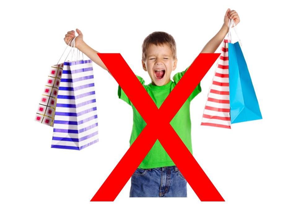 Crianças nas compras